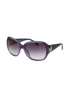 Calvin Klein Women's Square Royal Blue Sunglasses