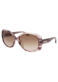 Calvin Klein Women's Square Striped Purple Sunglasses