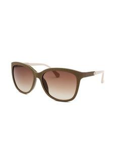 Calvin Klein Women's Square Taupe Sunglasses
