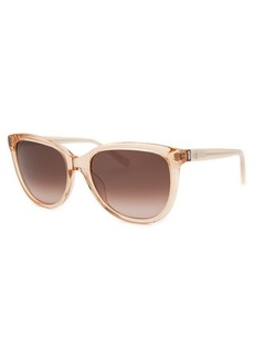 Calvin Klein Women's Square Translucent Peach Sunglasses
