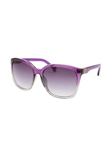 Calvin Klein Women's Square Translucent Purple Sunglasses