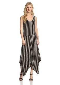 Calvin Klein Women's Stripe Handkerchief Dress