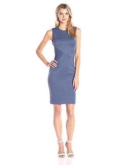 Calvin Klein Women's Stripe Sheath Dress, Atlantis Multi, 14