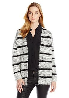 Calvin Klein Women's Striped Eyelash Cardigan