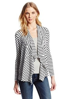 Calvin Klein Women's Striped Flyaway Cardigan Sweater