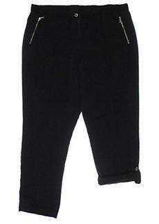 Calvin Klein Women's Tab Cuff Pant, Black, Large