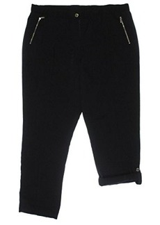 Calvin Klein Women's Tab Cuff Pant, Black, X-Large