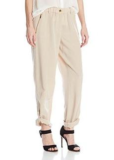 Calvin Klein Women's Tab Cuff Pant, Latte, Large