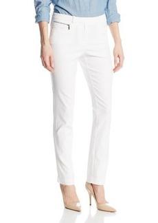 Calvin Klein Women's Tech Stretch Pant with Zip