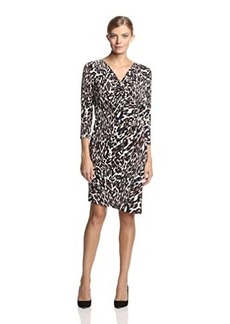 Calvin Klein Women's Printed Dress with Side Ruching