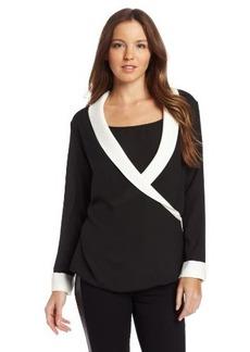 Calvin Klein Women's Tux-Drape Top