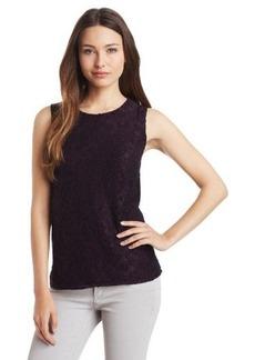 Calvin Klein Women's Two-Tone Lace Shell Shirt
