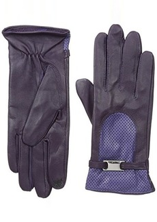 Calvin Klein Women's Two Tone Perforated Leather Touch Glove