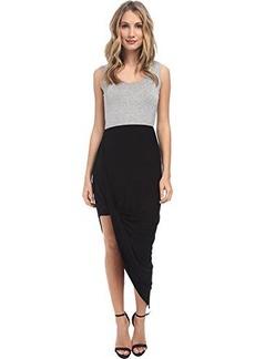 Calvin Klein Women's Two Tone Tank Dress, Tin Heather Black, 6