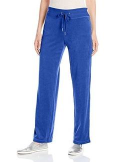 Calvin Klein Women's Velour Pant, Celestial, Large