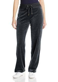 Calvin Klein Women's Velour Pant,Black,X-Small