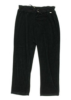 Calvin Klein Women's Velour Pant,Black,X-Large