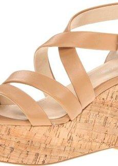 Calvin Klein Women's Vonnie Shiny Nappa Platform Sandal