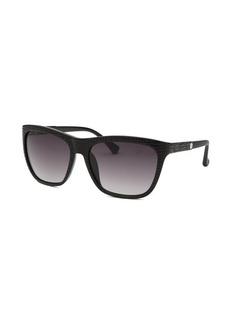 Calvin Klein Women's Wayfarer Black Reptile Print Sunglasses