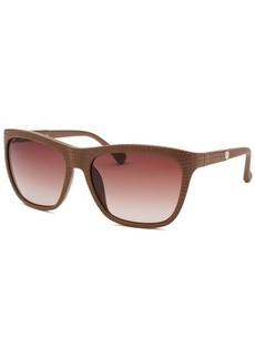 Calvin Klein Women's Wayfarer Light Brown Reptile Print Sunglasses