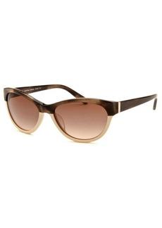 Calvin Klein Women's Wayfarer Tortoise & Cream Sunglasses