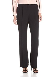 Calvin Klein Women's Wide Leg Pleated Pant, Black, 2