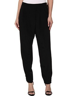 Calvin Klein Women's Woven Pant Side Zip, Black, Medium