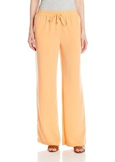 Calvin Klein Women's Woven Pant with Pockets, Tart, Large