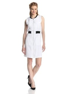 Calvin Klein Women's Zip-Front Dress with Pockets