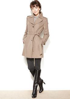 Calvin Klein Wool-Blend Belted Walker Coat