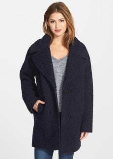 Calvin Klein Wool Blend Bouclé Boyfriend Coat