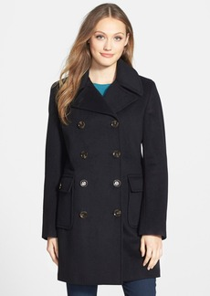Calvin Klein Wool Blend Elongated Peacoat