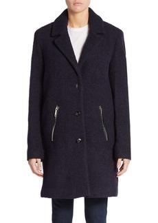 Calvin Klein Wool-Blend Three-Button Coat