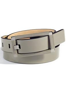 Calvin Klein Wrinkle Patent Wrapped Center Bar Belt