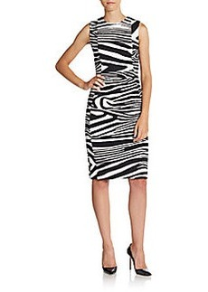 Calvin Klein Zebra-Stripe Sheath Dress