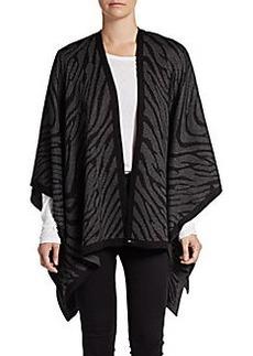 Calvin Klein Zebra-Striped Knit Ruana