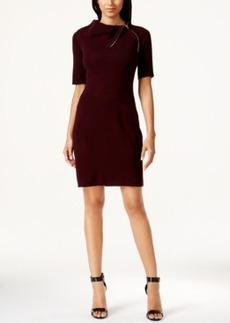 Calvin Klein Zip-Collar Sweater Dress