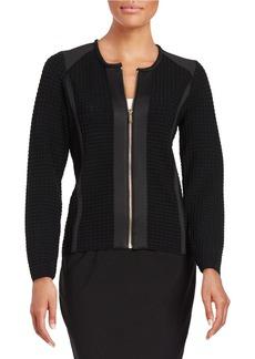 CALVIN KLEIN Zip-Front-Knit Cardigan