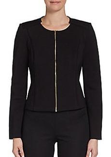 Calvin Klein Zip-Front Ponte Jacket