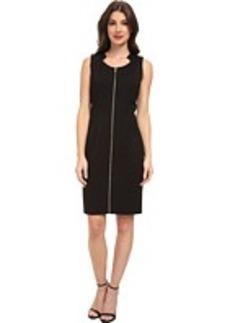 Calvin Klein Zip Front Zip Dress
