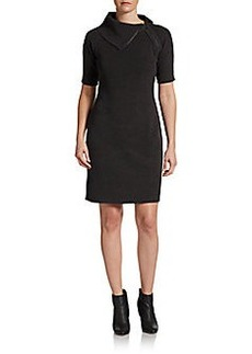 Calvin Klein Zip-Neck Sweater Dress