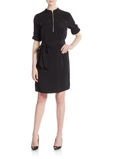 Calvin Klein Zip Placket Shirtdress