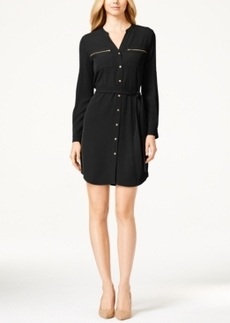 Calvin Klein Zip-Pocket Shirt Dress