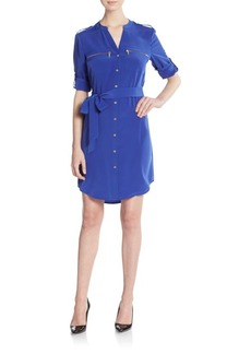 Calvin Klein Zip Pocket Shirtdress