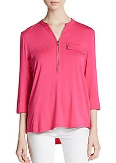 Calvin Klein Zip Relaxed-Fit Shirt