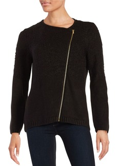 CALVIN KLEIN Zipper Accented Sweater