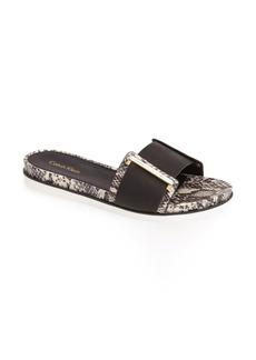 Calvin Klein 'Zizi' Leather Slide Sandal (Women)