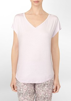 cotton modal v-neck cap sleeve pajama top