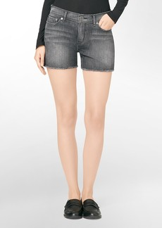 faded black wash cutoff shorts