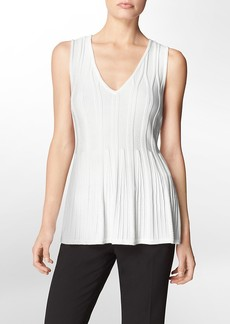 flared v-neck sleeveless top